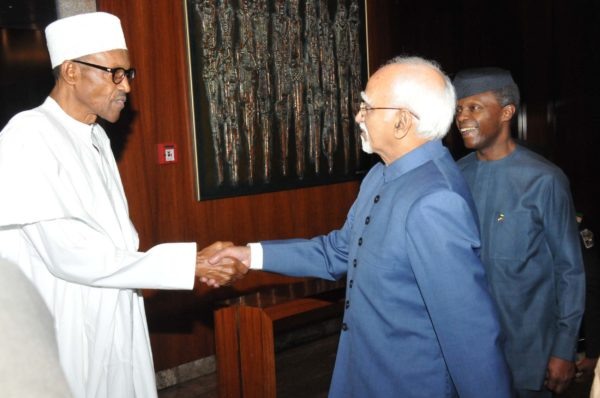 Indian Vice President wants mutual Partnership with Nigeria