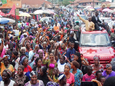Akoko gives rousing welcome to Abraham