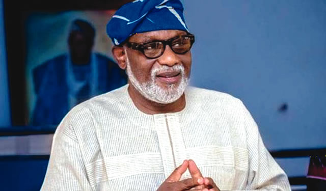 Jegede no longer a contender : Akeredolu
