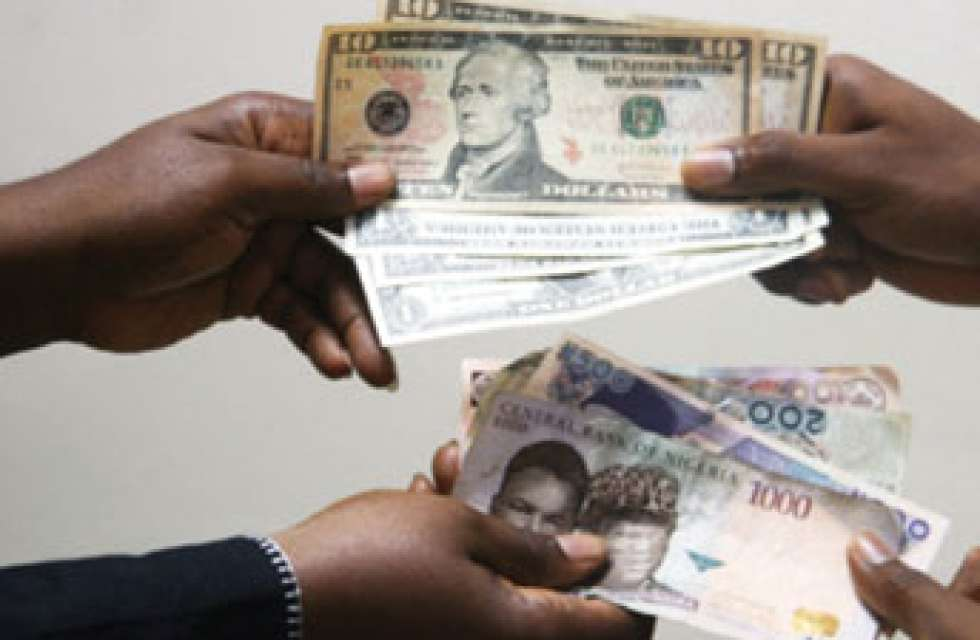 Naira forms up against dollar