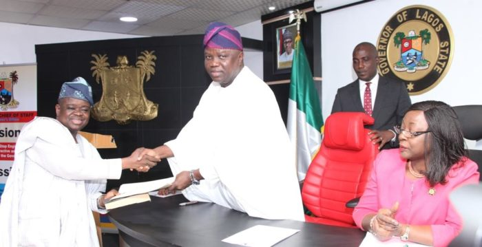 Ambode swears in new LASIEC Commissioners