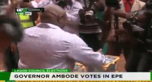 Akinwunmi Ambode votes - TVC