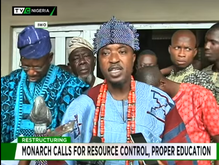 Restructuring: Iwo monarch calls for resource control, proper education