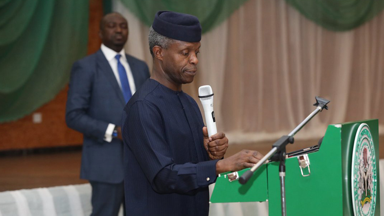 Osinbajo calls for Entrepreneurship development