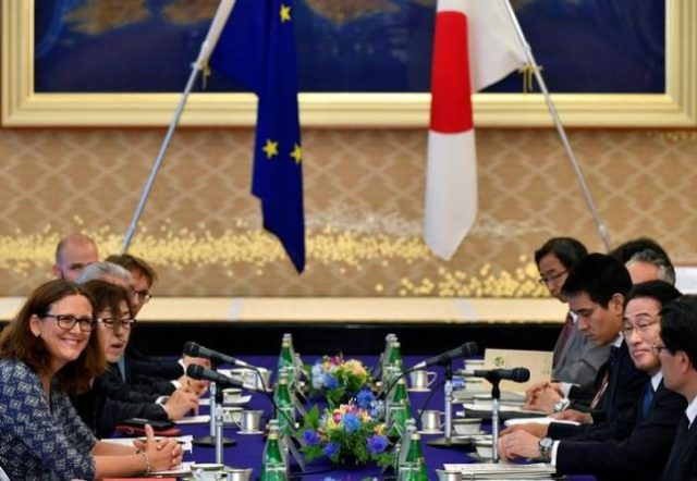 E.U., Japan enter free tariff agreement