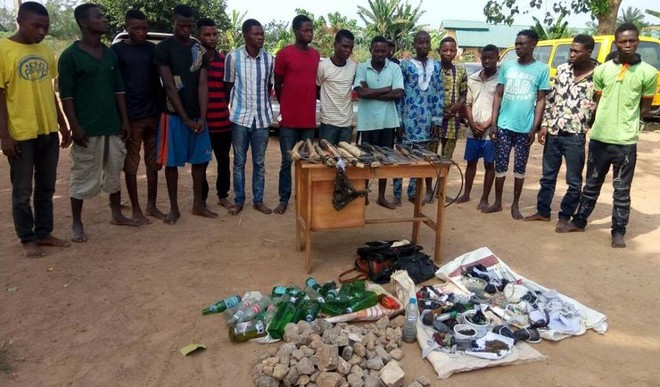 Police arrest twelve suspected cultists in Ondo state