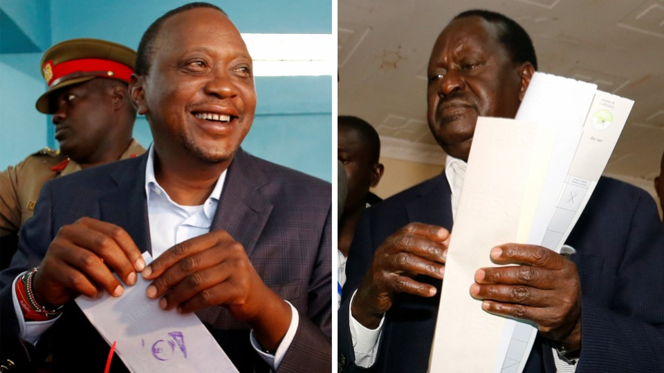 Kenyan election : Kenyatta in early lead, Odinga rejects results