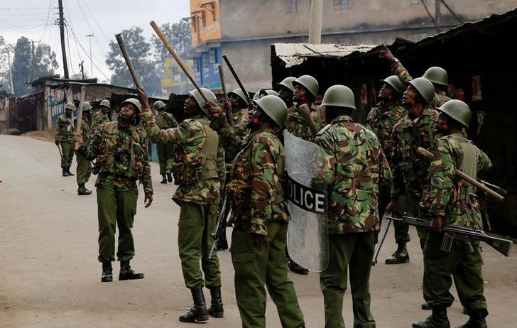 Kenyan police fire tear gas after women attacked at election meeting