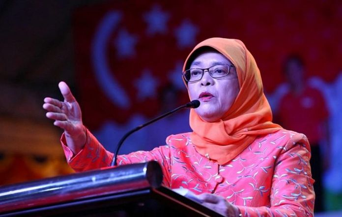 Singapore inaugurates first female president
