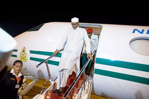 President Buhari returns to Abuja after week-long vacation