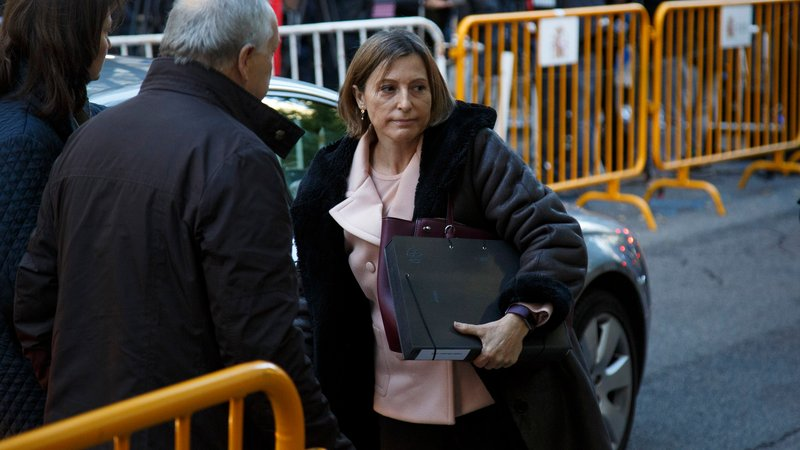 Former Catalan parliament speaker appears before Supreme Court