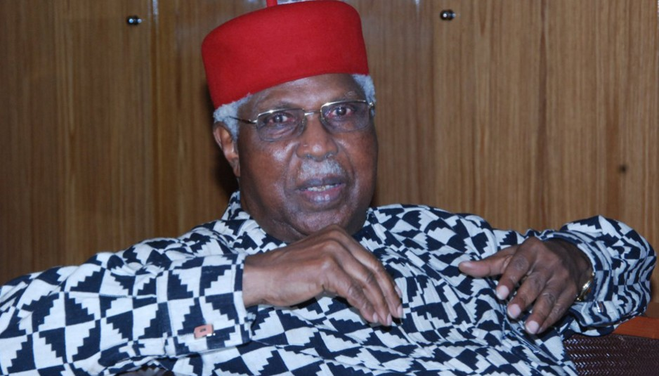 Alex Ekwueme flown abroad for treatment of chest infection