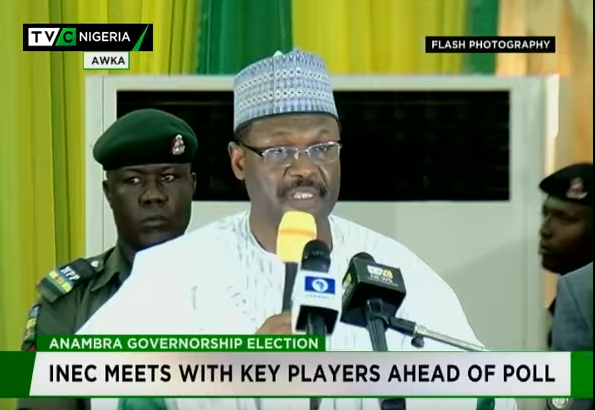 INEC meets with key players ahead Anambra governor election
