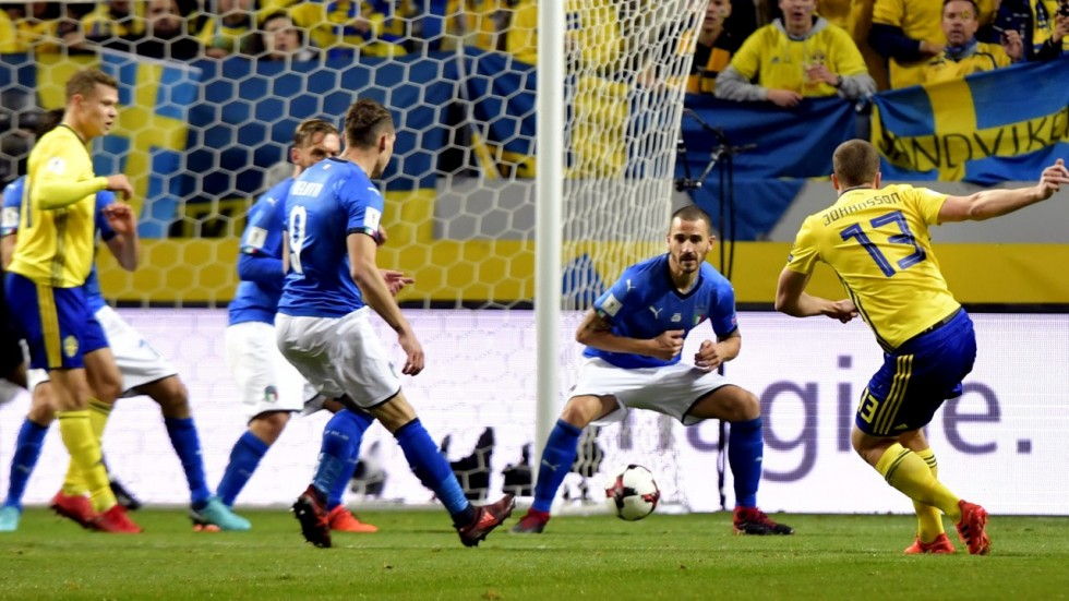 Sweden prevents Italy from reaching World Cup finals in Russia