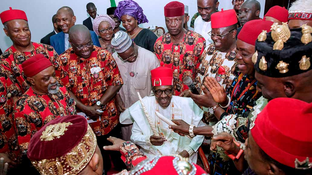 Buhari honored with two chieftaincy titles in Ebonyi