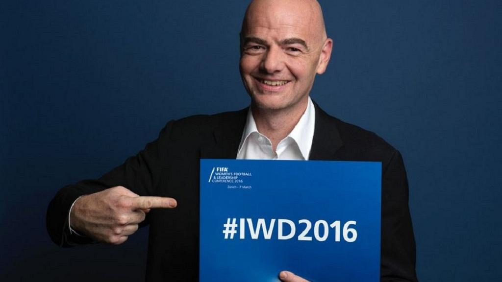 Women can help solve FIFA's problems, Infantino told