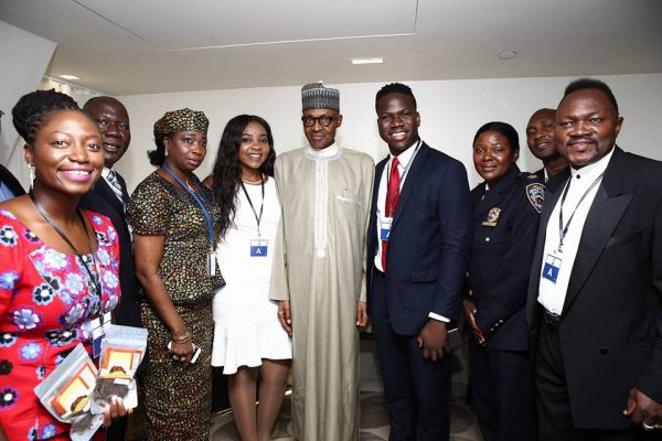 Buhari meets with Nigerian Professionals in New York