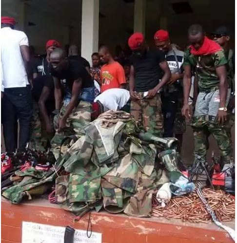 Militants surrender weapons to Gov. Wike
