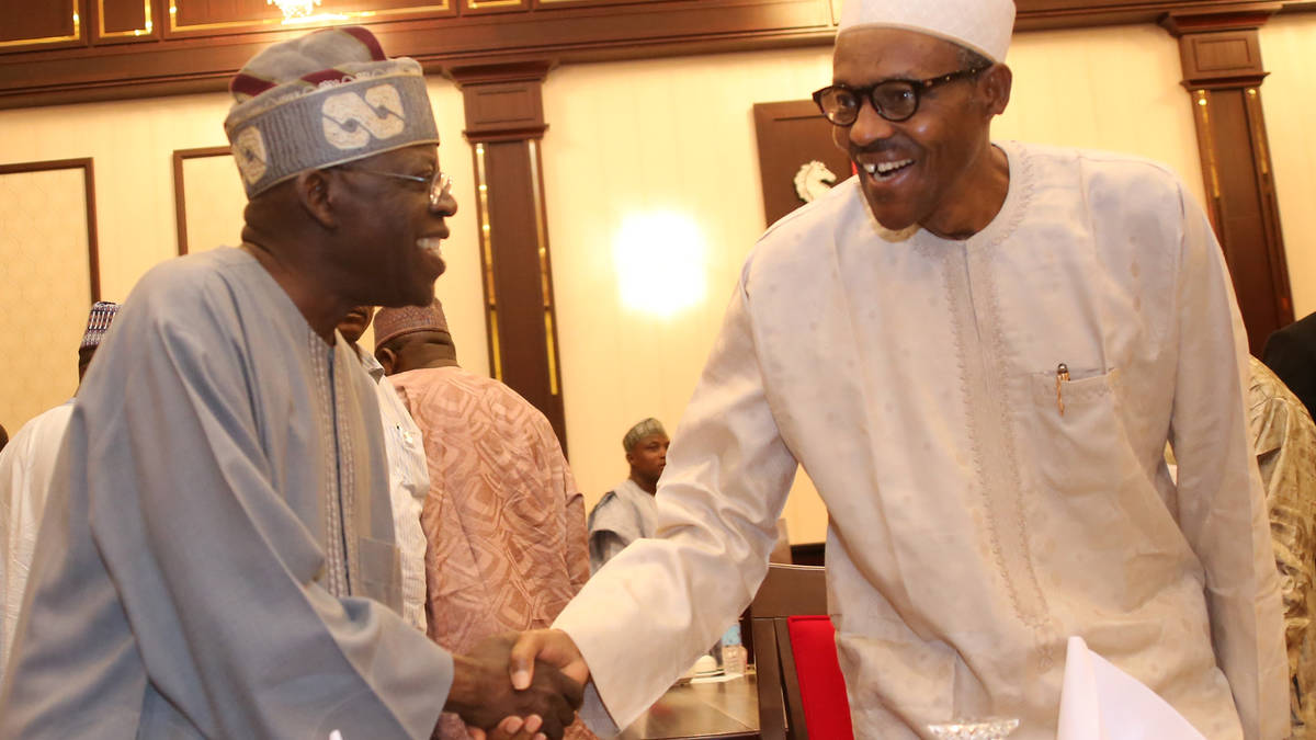 Tinubu hails Buhari for the 'delightful relief'