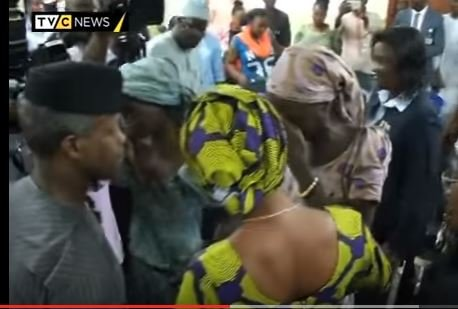 Osinbajo visits 21 freed Chibok School Girls