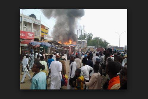 Lagos: Popular Yaba market razed by fire