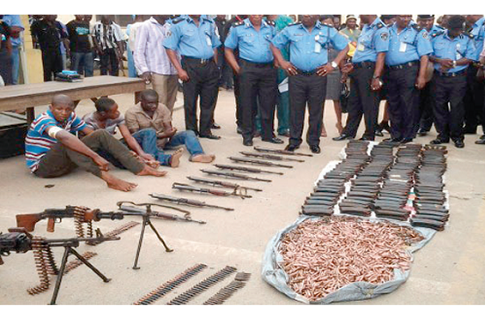 Kano Police parade suspects with concealed weapons