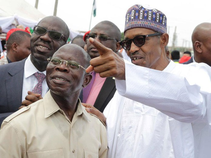 Buhari commends out going Governor Oshiomhole