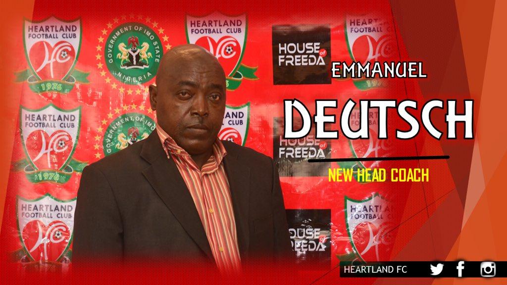 Heartland FC appoint Emmanuel Deutsch as coach