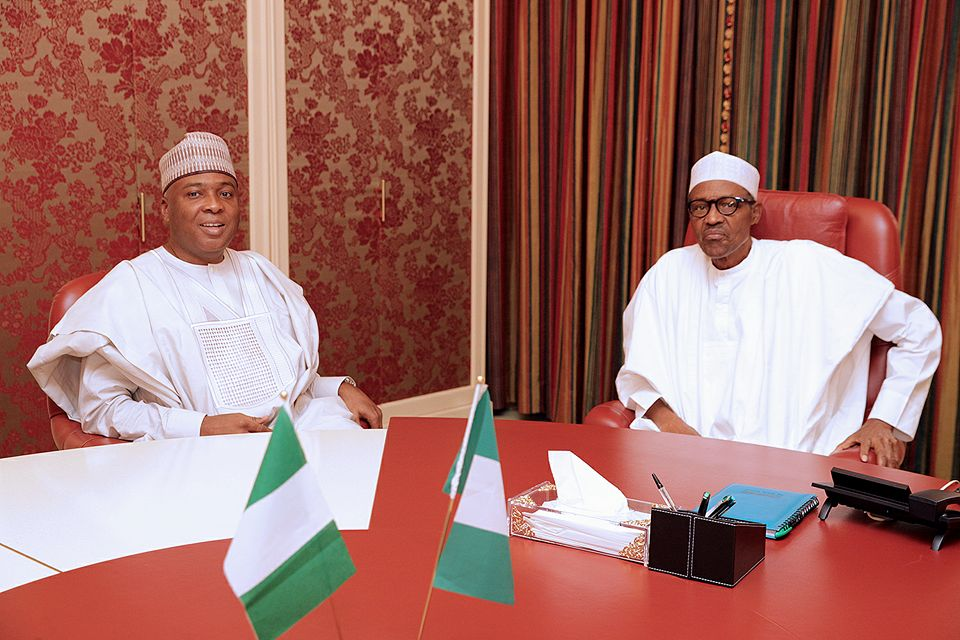Senate President holds close door meeting with President Buhari