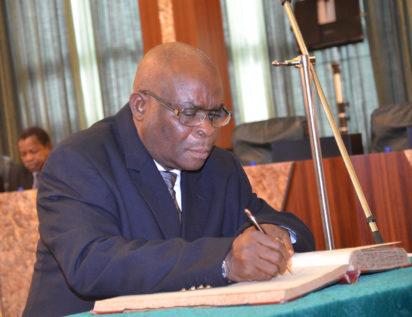 Buhari swears in Walter Onoghen as acting CJN