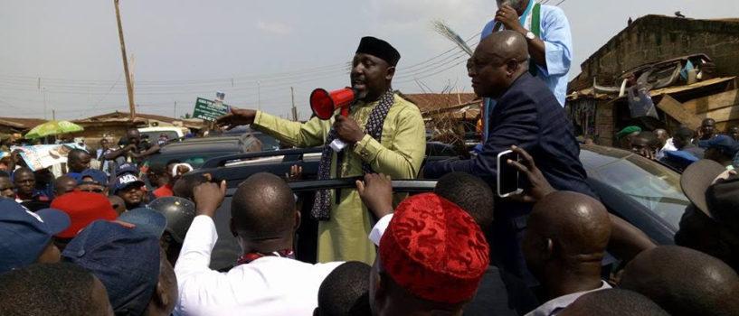 Okorocha joins Akeredolu to campaign in Ikare-Akoko