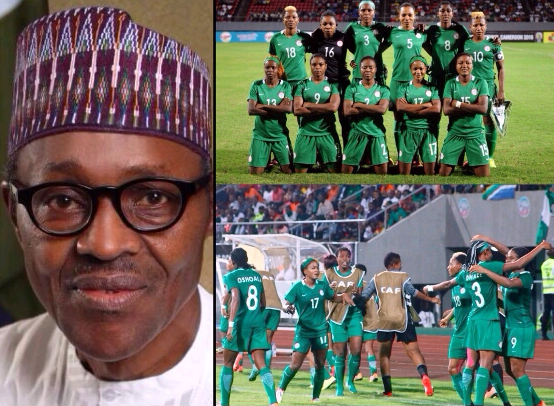 Buhari hails Falcons on progress to AWCON final