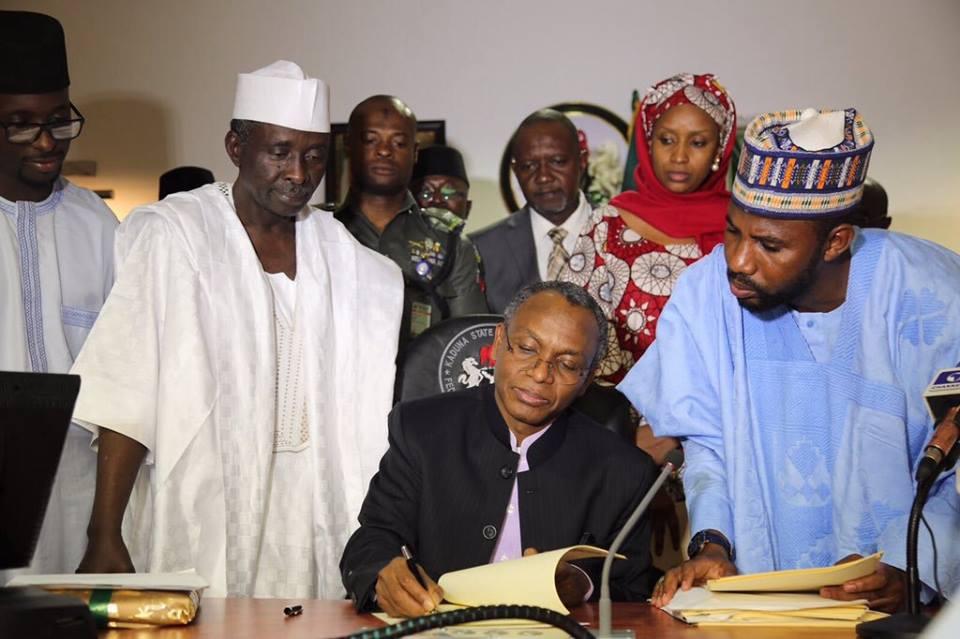 El-Rufai signs 2017 budget into law