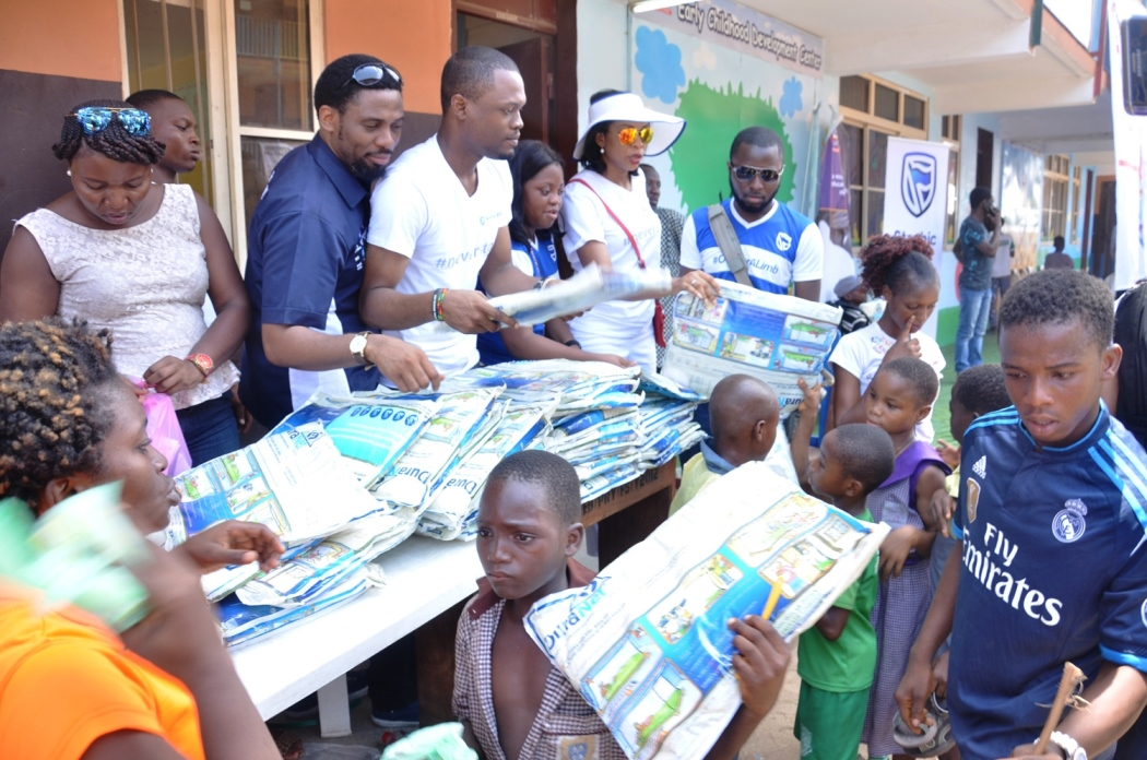 Organisation donates to Makoko children