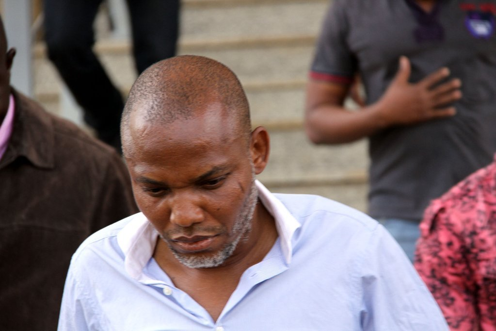 Treason charges : FG seeks withdrawal of Nnamdi Kanu's bail