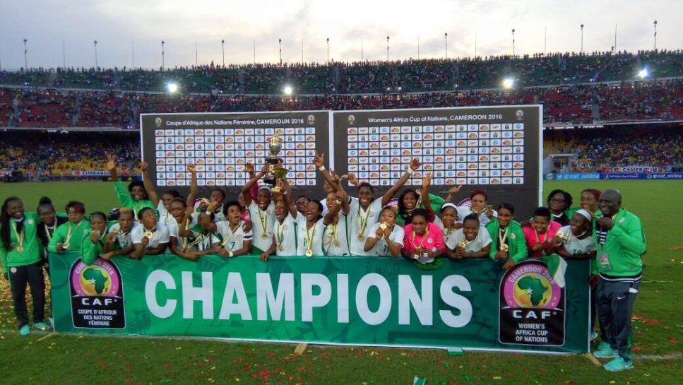 Super Falcons release AWCON trophy