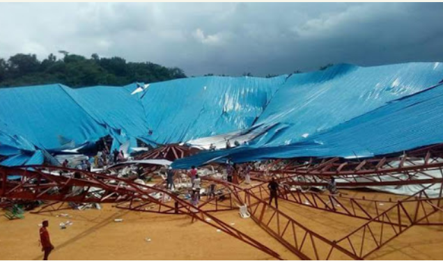 Uyo residents attribute Church building collapse to structural error