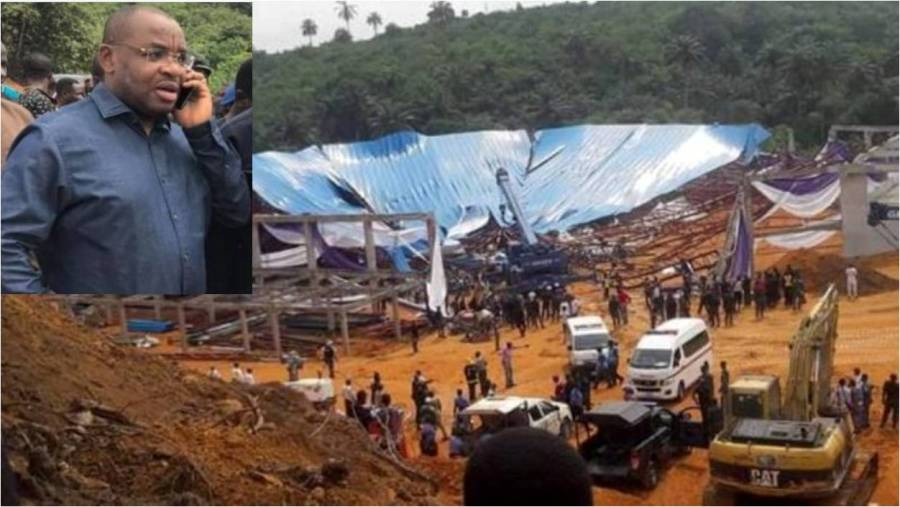 Uyo building collapse: Abia Governor condoles with Governor Udom