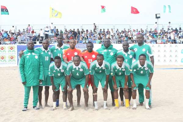 Sand Eagles win opener in African Beach Soccer tourney