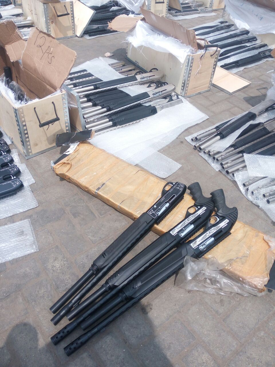 Nigeria Customs intercepts 661 Pump Action Riffles in Lagos
