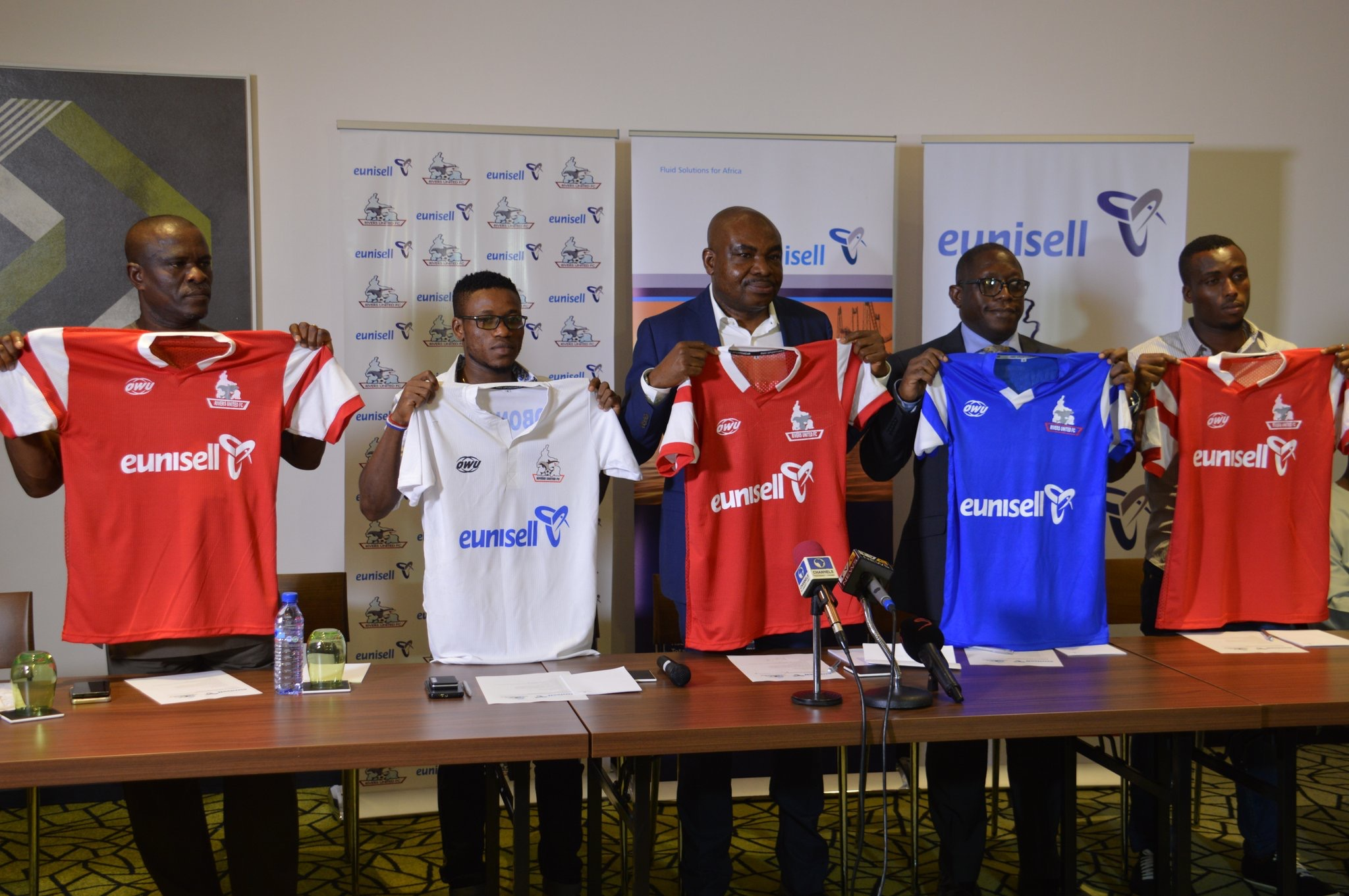 Rivers Utd unveil shirt deal for new season