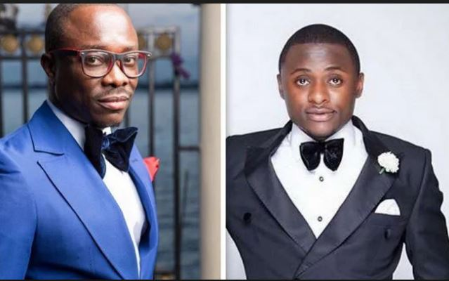 Ubi Franklin celebrates Julius Agwu, his former boss