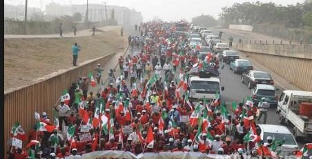 Organised Labour, Civil Society groups protest in Abuja