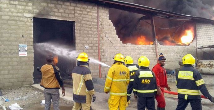 Fire guts Lagos Plastic factory