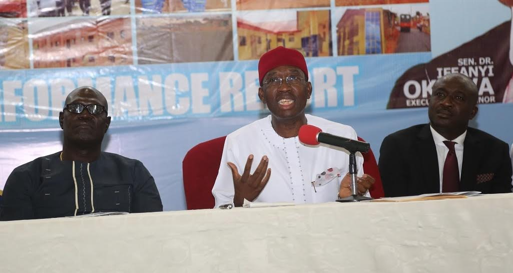 Okowa tasks contractors on timely completion