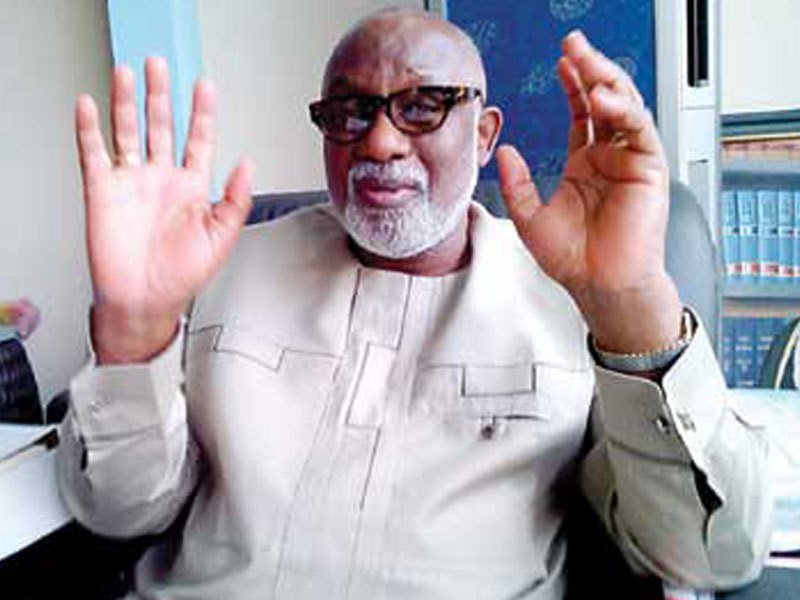 Akeredolu seeks removal of PDP LG chairmen