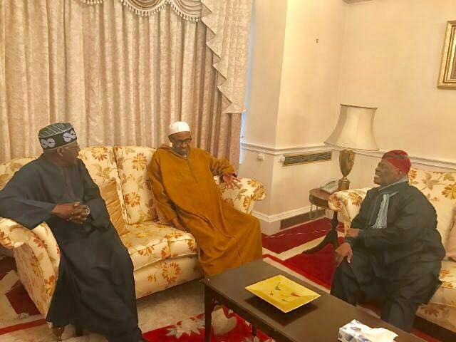 Buhari receives Tinubu, Akande in London