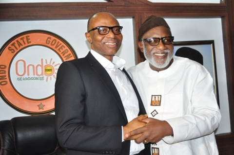 Mimiko presents hand over notes to Akeredolu
