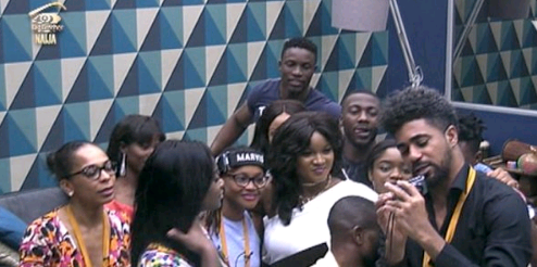 Omotola Jalade gives great speech in Big Brother Naija House