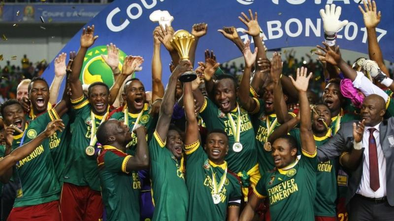 Cameroon fans celebrate AFCON title in Doula
